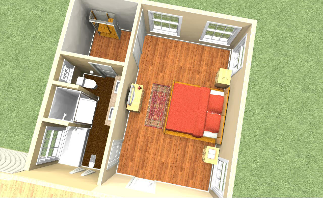 Floor Plans Rendering Executive Master Suite