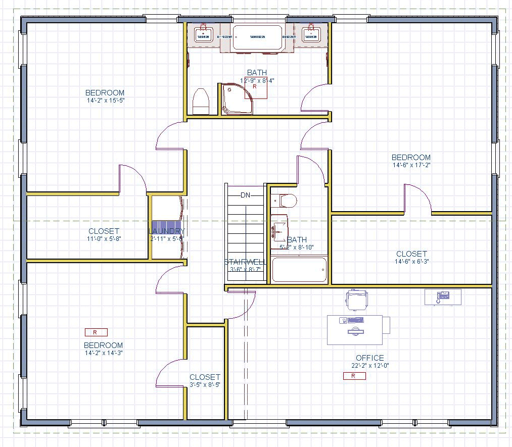 Second story addition floor plans thefloors co for Addition floor plans