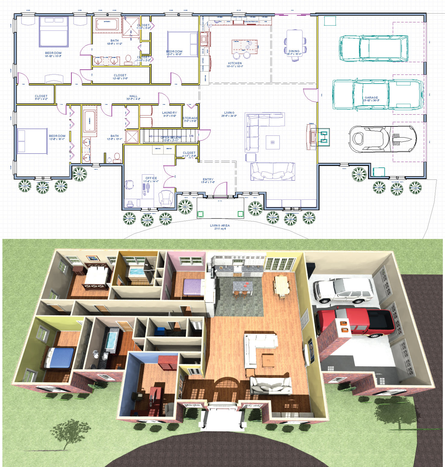 House plans for future additions for Additions to homes floor plans