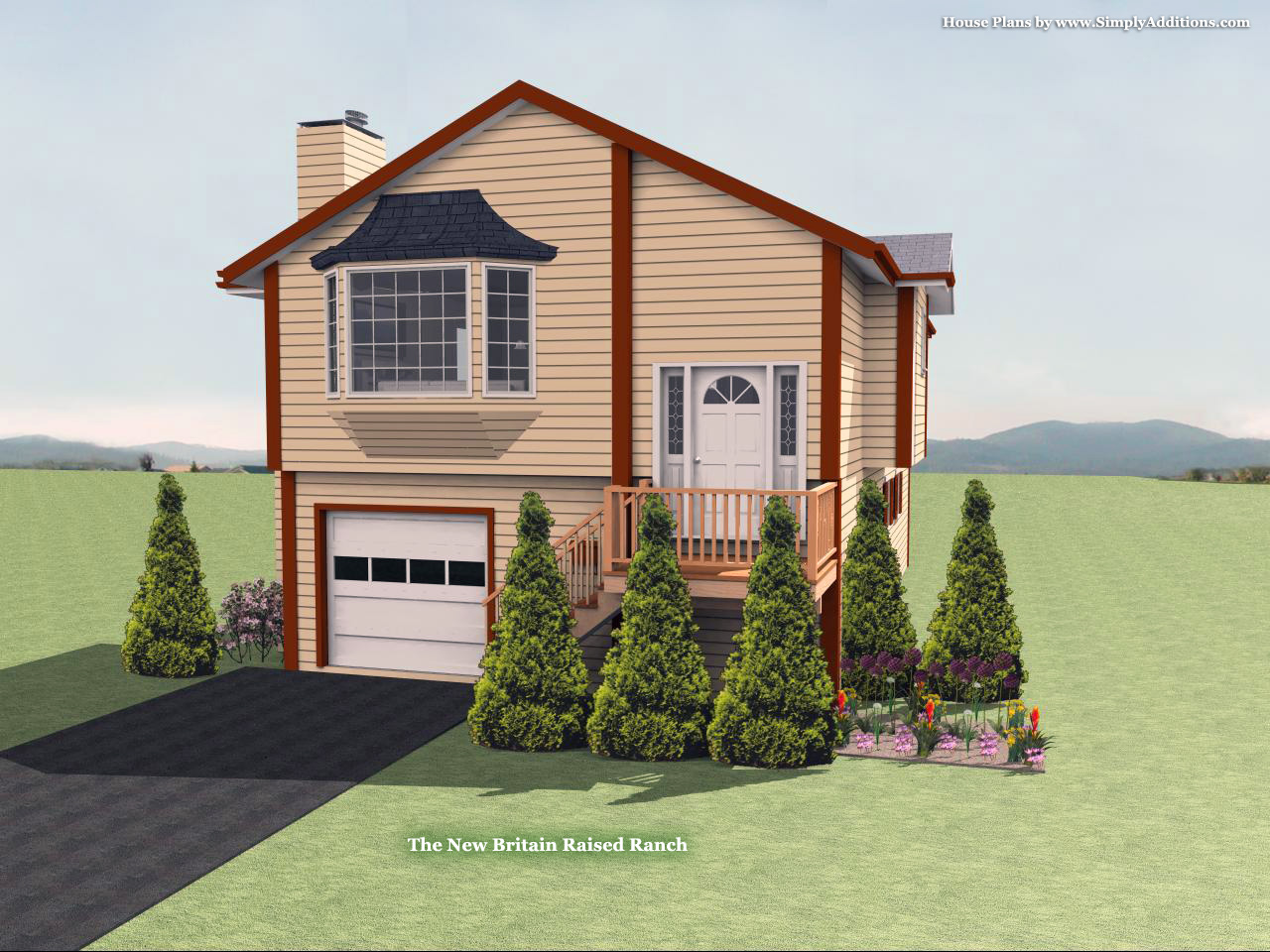 The new britain raised ranch house plan for Ranch house addition plans