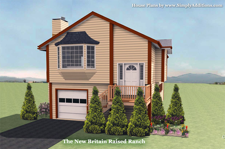 Raised ranch house plans fortin construction custom home for Raised ranch homes