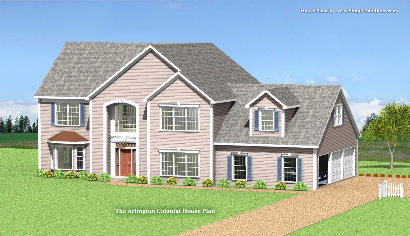 colonial house plans arlington modular colonial home plan 11047