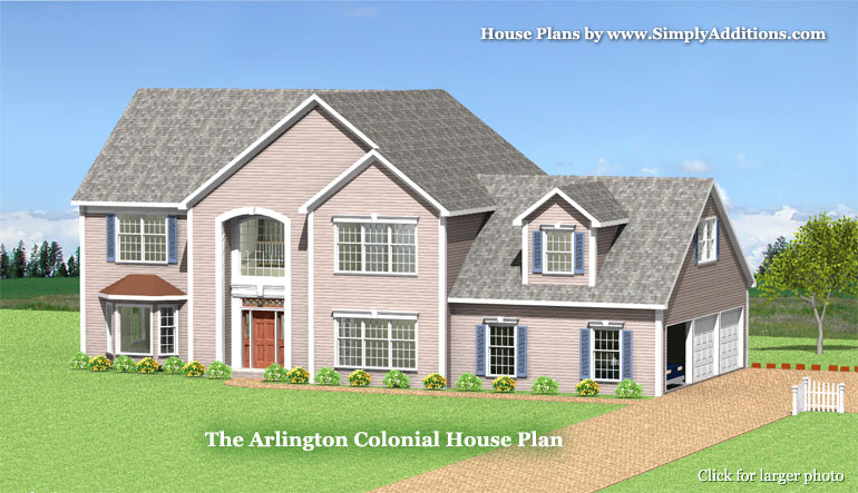 Arlington modular colonial home plan for Colonial home additions