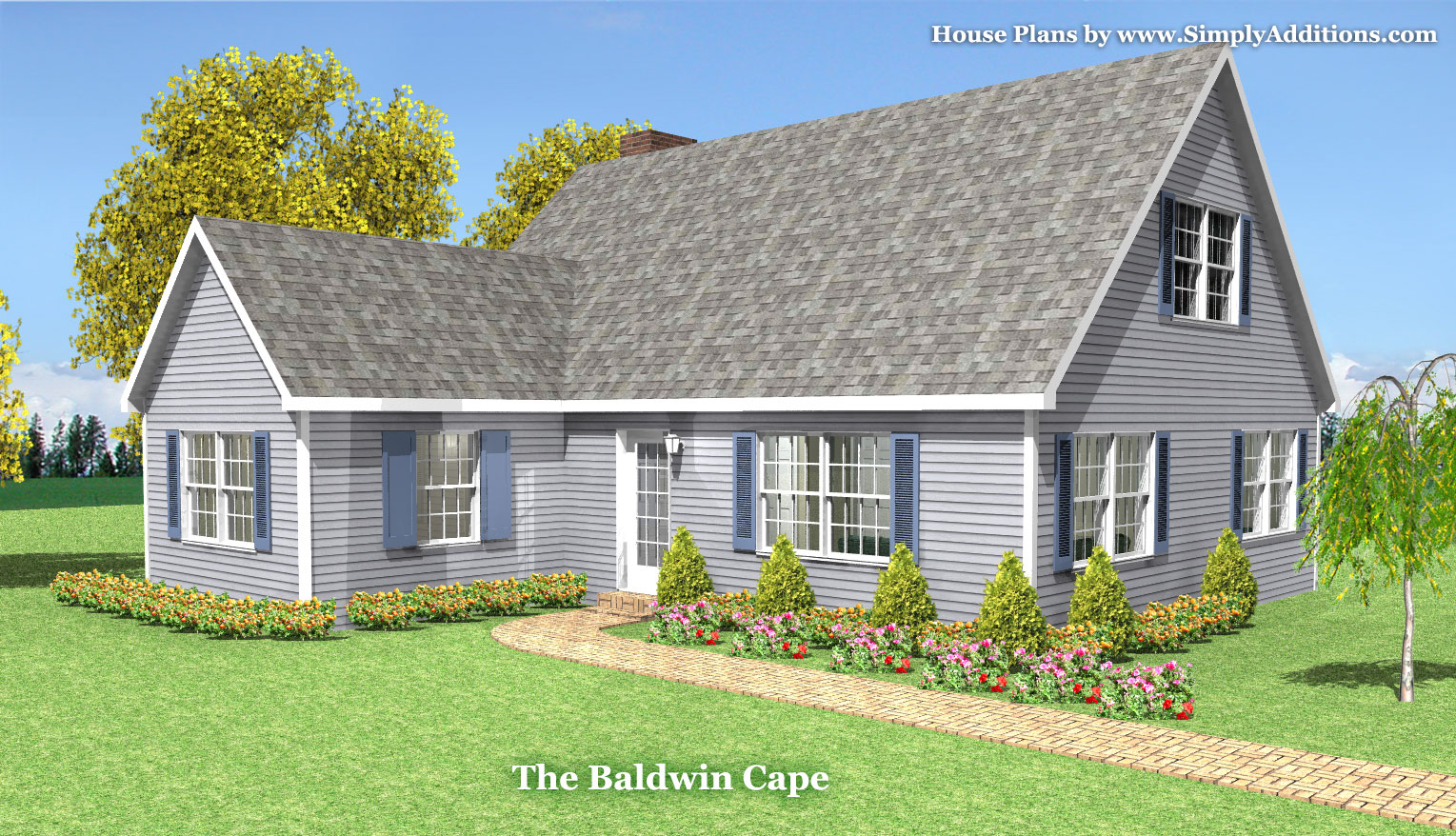 Baldwin modular cape house plans for Modular garage addition