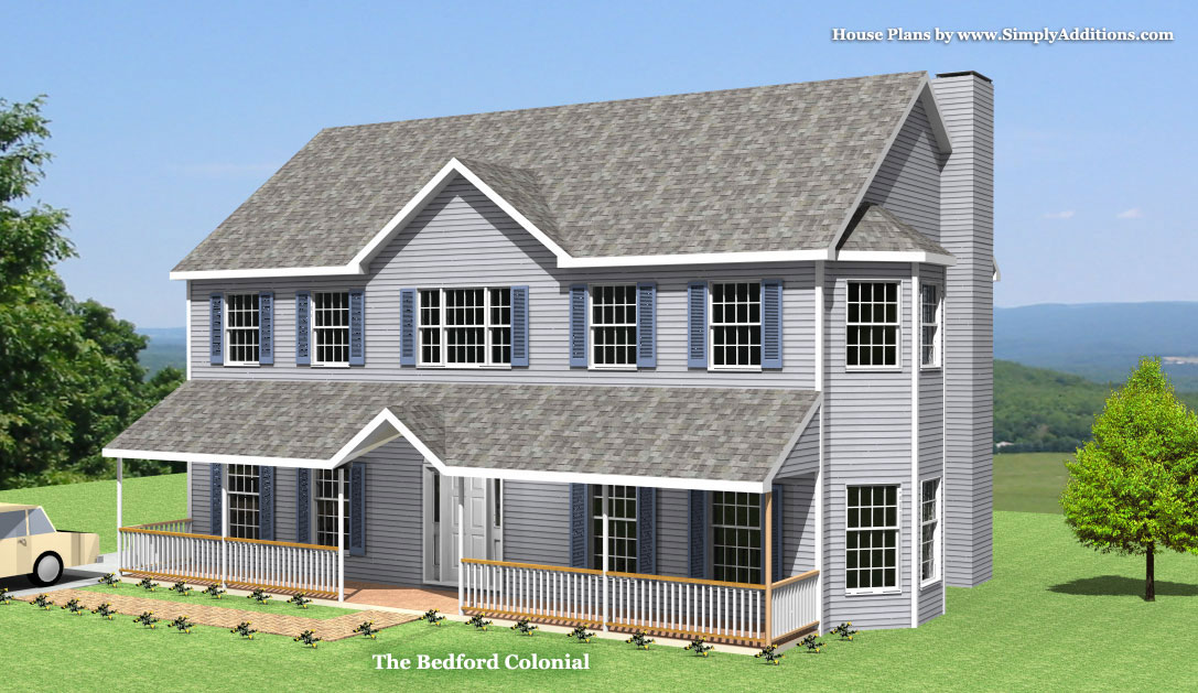 Bedford modular colonial house for Modern colonial house plans