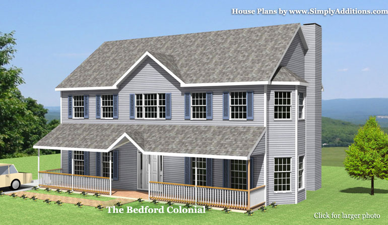 Bedford Colonial House Plans