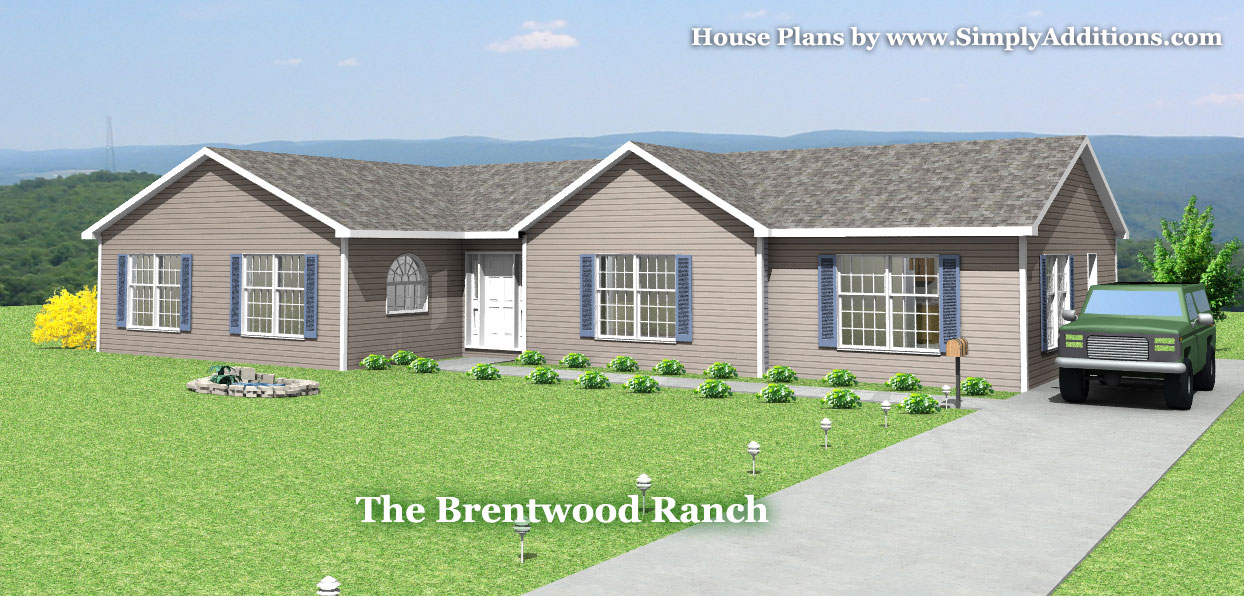 Brentwood modular ranch house for Prefab ranch homes