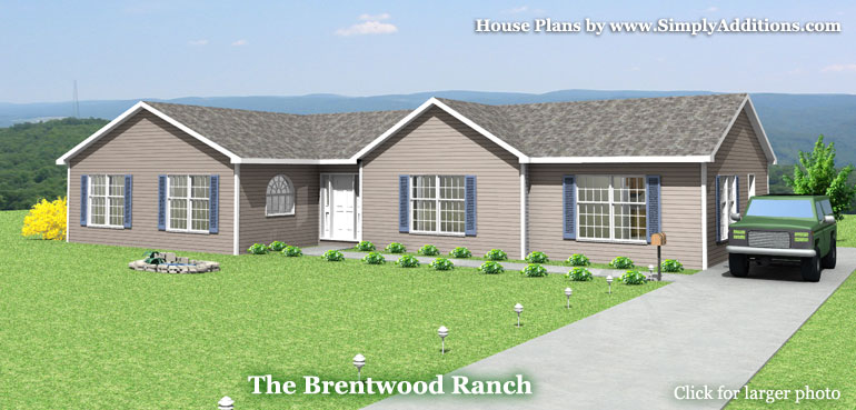 Brentwood Ranch House Plans