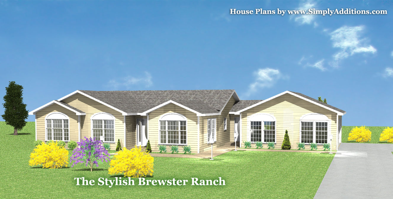 Brewster modular ranch house for Ranch house plans with cost to build