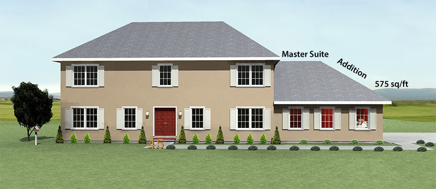 Master Suite Addition for Dutch Colonial House