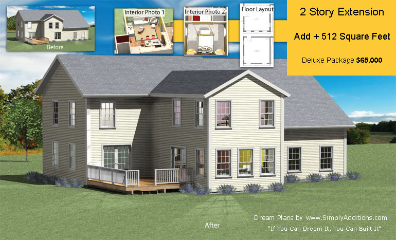 Two story addition Additions to homes floor plans