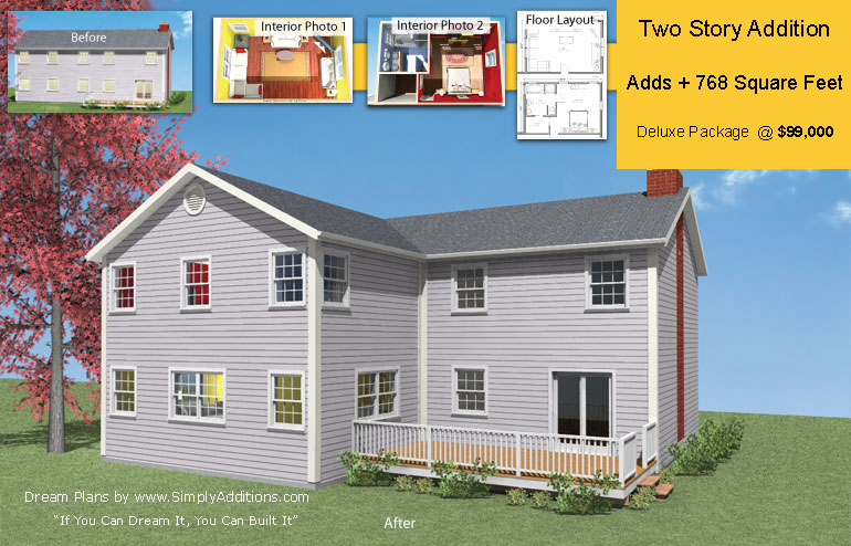 Two story home extension concept plans building costs for Ranch addition cost