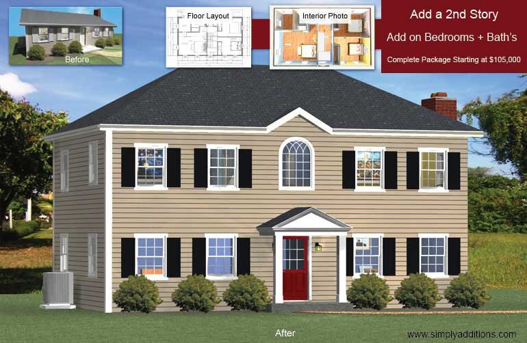 Add a floor convert single story houses for Framing a second floor addition