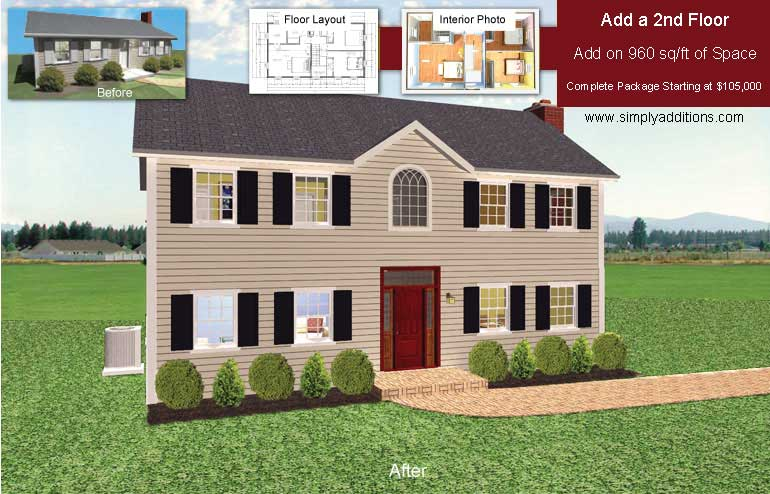 Second story addition costs for 2nd story house plans