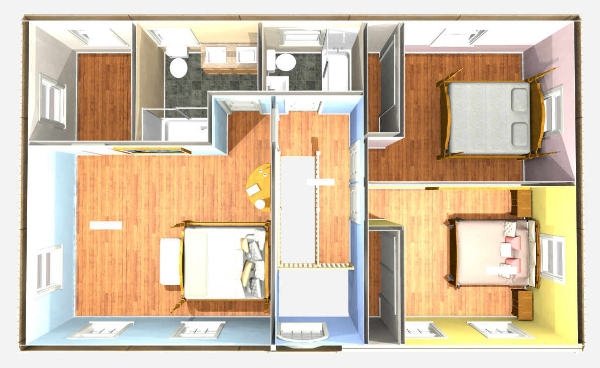 Single bedroom top view - Add A Level To Convert Single Story Homes