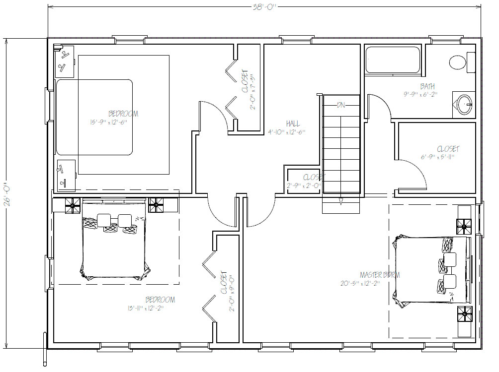 second 2nd story addition floor plans on a ranch home