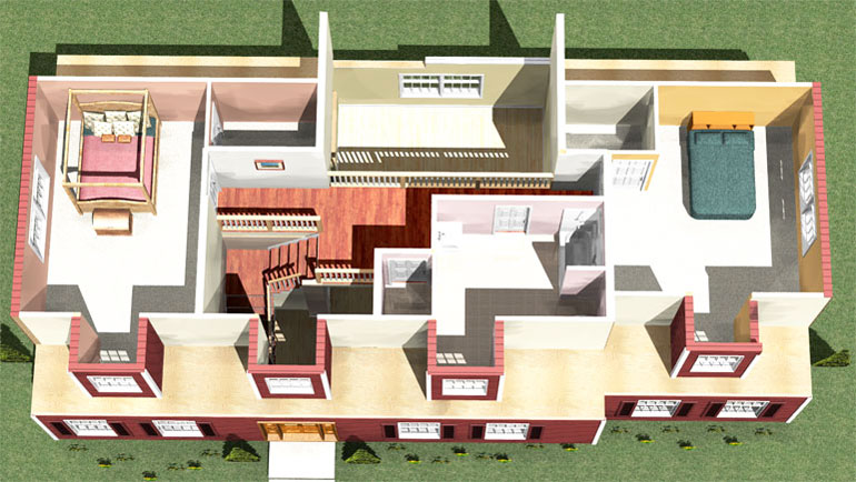2 Bedroom 1 Bath Attic Remodeling Plan