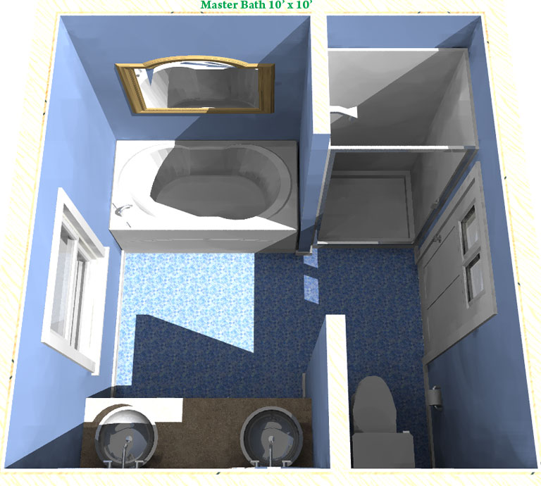 Adding a bathroom the napoleon for Bedroom designs 10 x 10