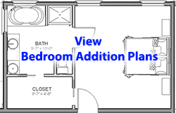 Bedroom addition plans menu Bedroom addition floor plans