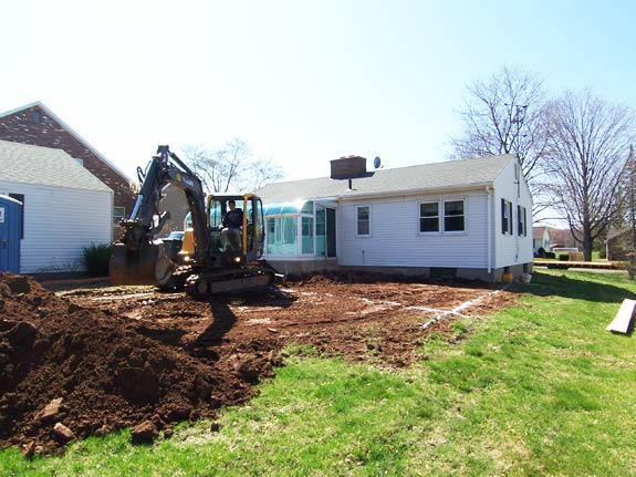 Excavation for bedroom addition