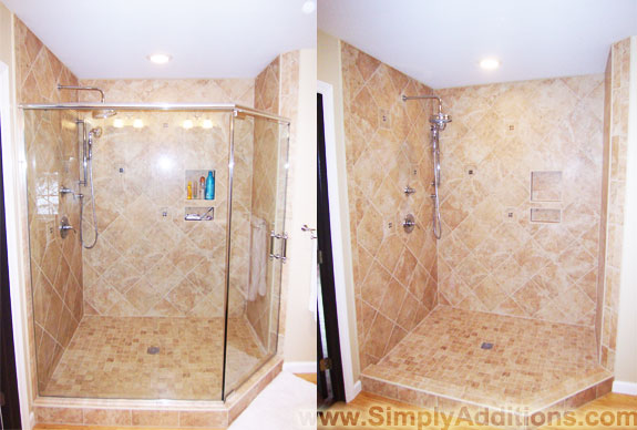 Custom Glass Shower Doors Before-After