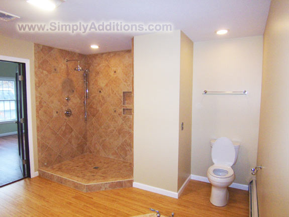 Master Bath Shower Water Closet