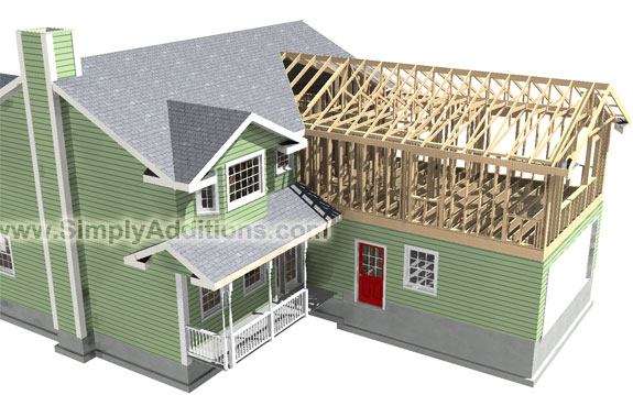 Steven cindy 39 s master suite addition story for How to frame a two story house