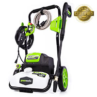 Greenworks Model GPW1800 1.1 Gallon GPM 1800 PSI Electric Pressure Washer at Lowes