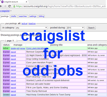 hiring on craigslist for odd jobs