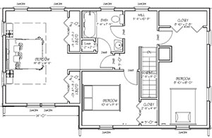 Blueprint view of Cape to Colonial Renovation