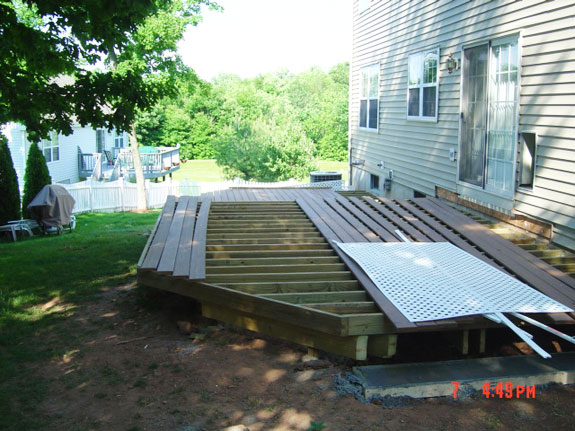 Deck layout complete and Trex layed ontop