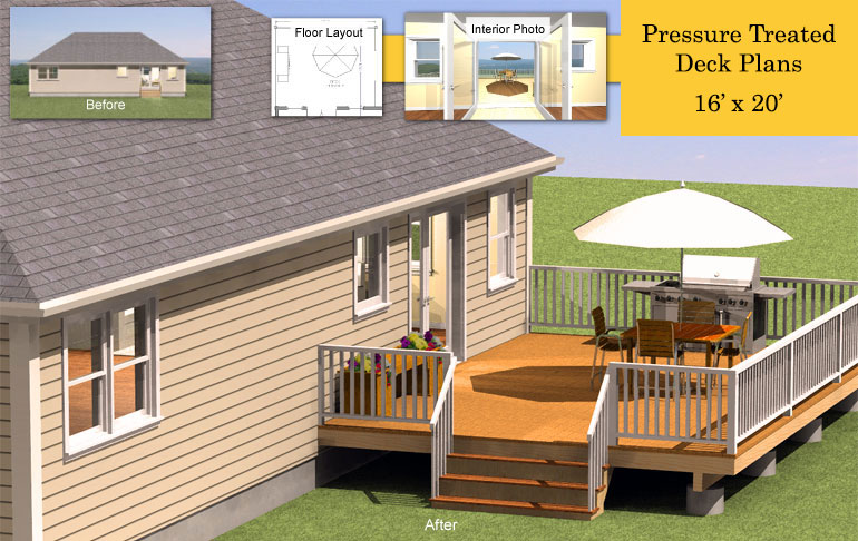 plans for pressure treated deck with building costs