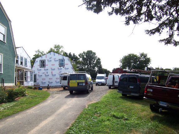 Construction Crews on Portland CT Jobsite