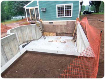 How to guide for pouring a new foundation for Making a crawl space into a full basement