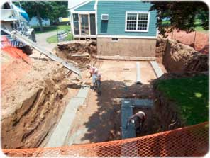 a typical foundation will consist of three primary parts 1 the footing 2 the wall 3 the floor a typical foundation is almost always poured in the - House Footer