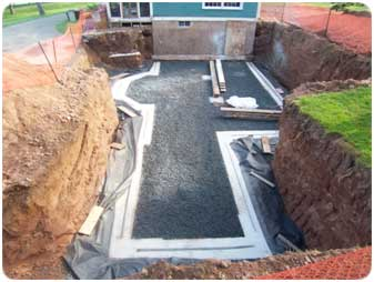 foundation footer concrete footings drainage - House Footer
