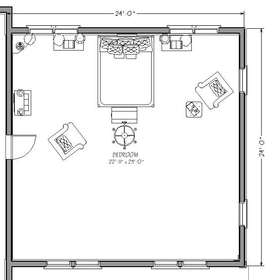 Blueprint of Two Car Garage Conversion