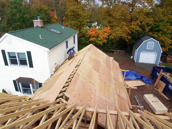 Mike Is Wrapping Up The Roof Framing