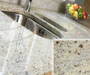 White Kashmir Granite Counertops