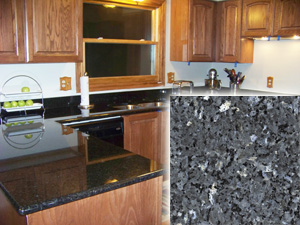 Silver Pearl Dark Granite or Black Pearl