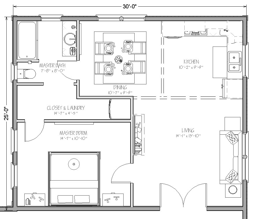 In law apartment addition floor plans thefloors co for Modular home floor plans with inlaw apartment