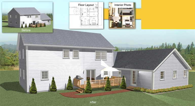 The in law apartment home addition for Home addition plans