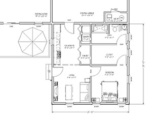 blueprint view of In-law Apartment