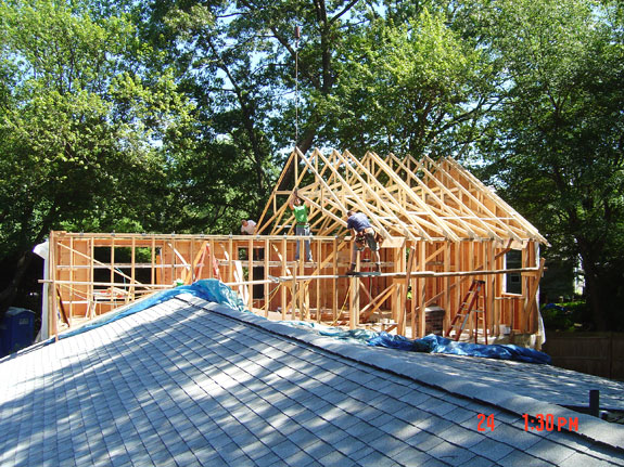 In law addition for Roof addition