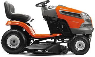 Husqvarna YTH22V46 V Twin Hydrostatic 46 in Riding Lawn Mower with Briggs Stratton Engine and Mulching Capable
