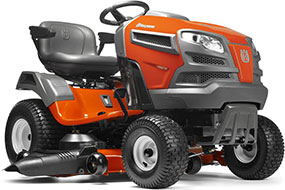 Husqvarna YTH24V48 V Twin Hydrostatic 48 in Riding Lawn Mower with Briggs Stratton Engine and Mulching Capable
