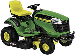 John Deere D130 V Twin Riding Lawn Mower with Briggs Stratton Engine Mulching Capable