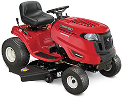 Troy Bilt Bronco Automatic 42 in Riding Lawn Mower with Kohler Engine and Mulching Capable