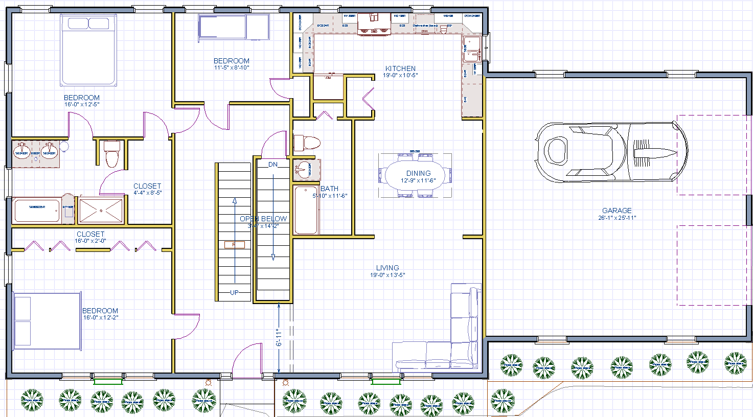 The new yorker cape house plan for Cape cod house layout