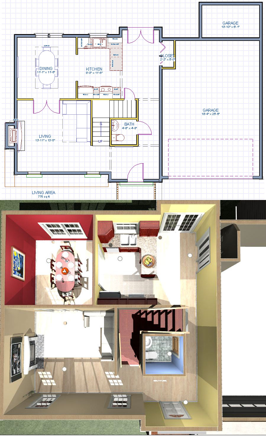 get 3d architectural designs for your project 1 interior rendering of floor plan